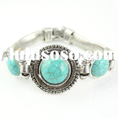 stone jewelry ,tear turquoise bracelets ,paypal ,free shipping ,BR-1089