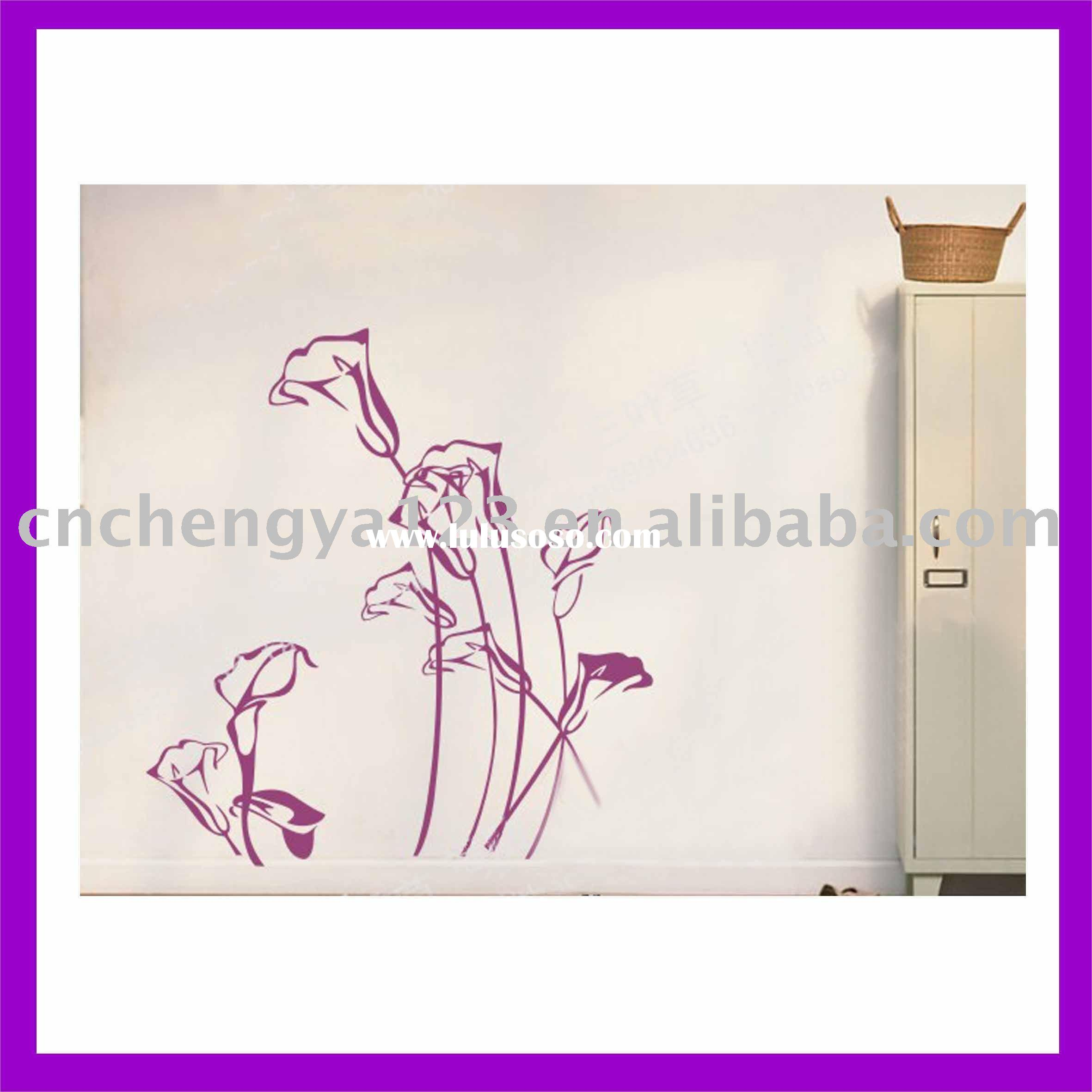 tulip room wall decor sticker/fashion wall stickers home decor