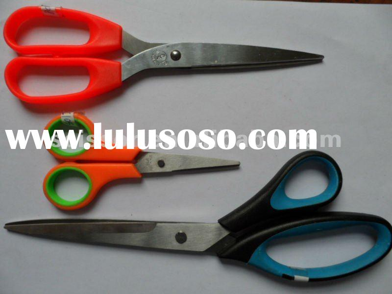 types of scissors with comfort plastic handle stainless steel