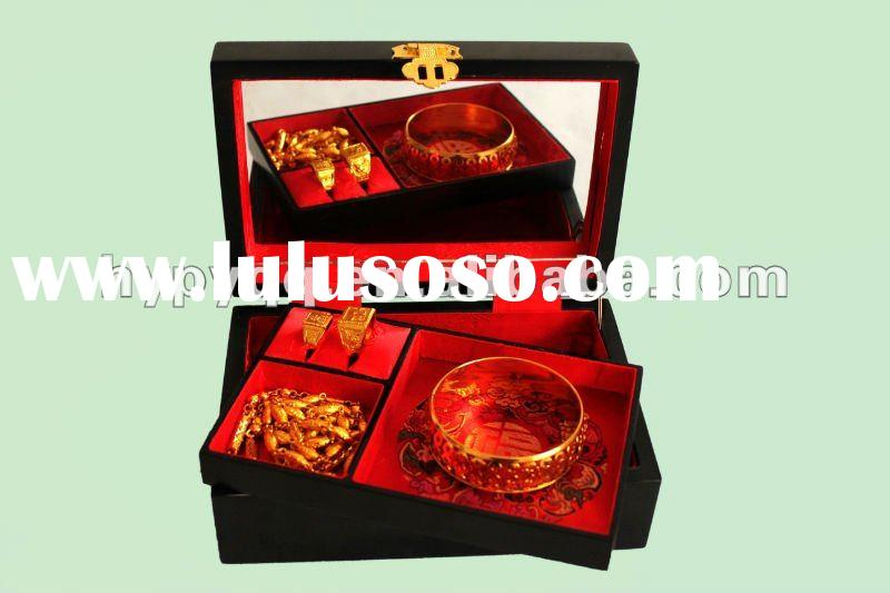 wedding fashion gift jewelry box with mirror