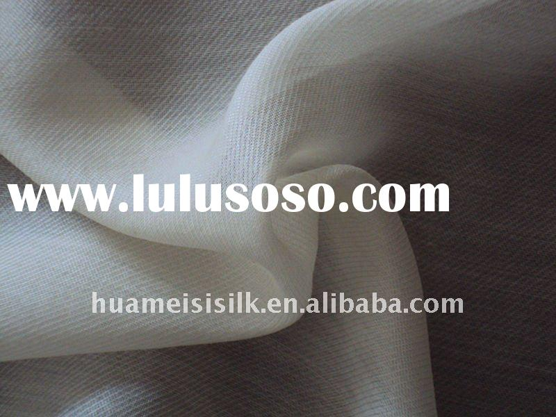white silk wool blend fabric/wool blend fabric for blouses
