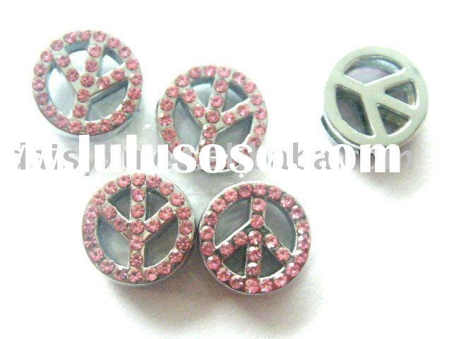 wholesale slide metal letter charms accessory