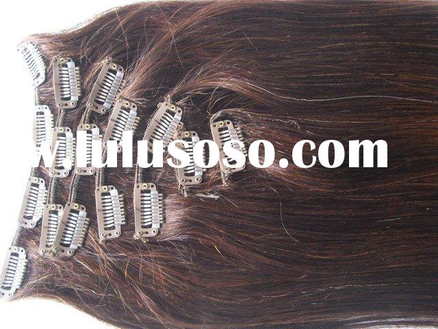100% remy hair extensions/ remy clip on human hair