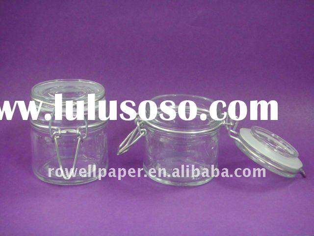 100ml glass food jar with airtight clamp lid