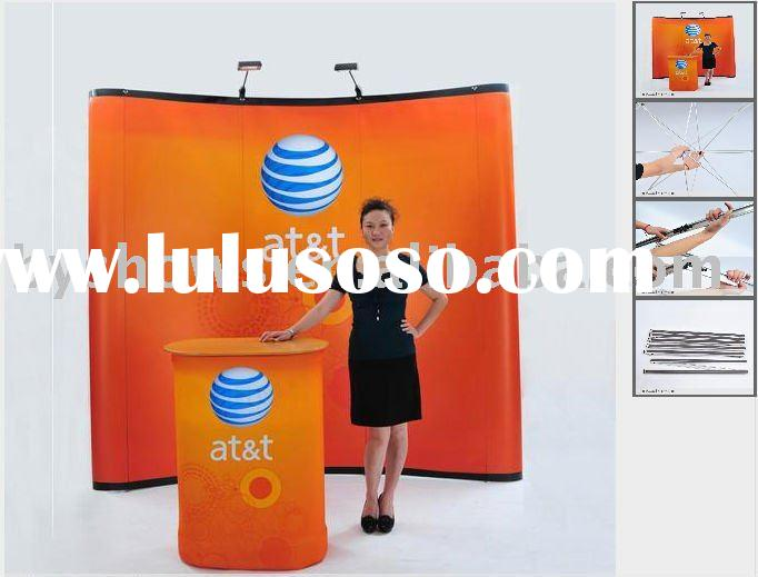 10ft curved pop up banner stand