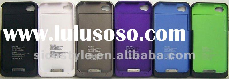 1900mAh 230hours Standby Time External Rechargeable Battery for i Phone 4G/4S Juice Pack