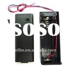 1XAA 1.5VDC battery holder box with cover and ON/OFF switch