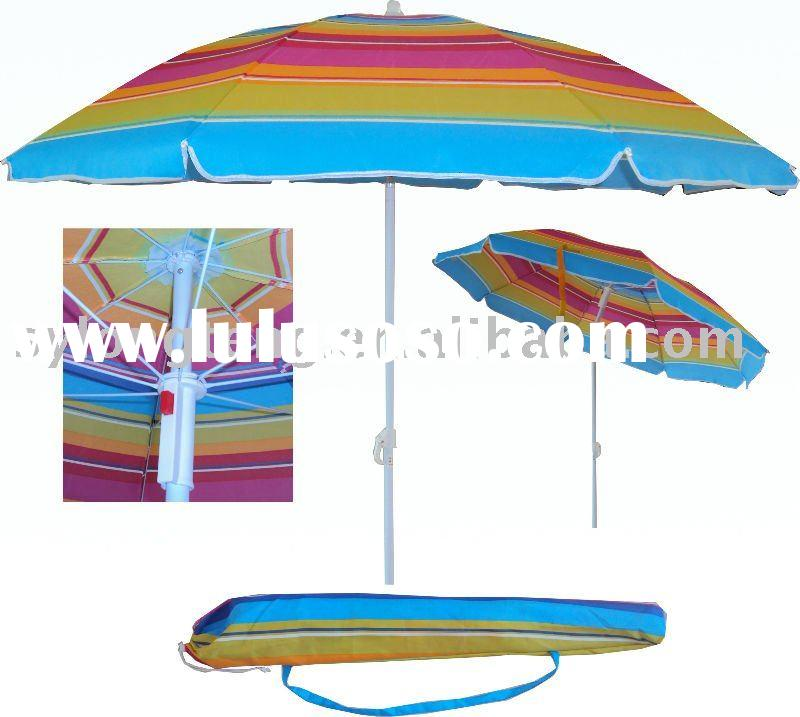 1.8 meters 160G polyester umbrella beach parasol with metal tilt