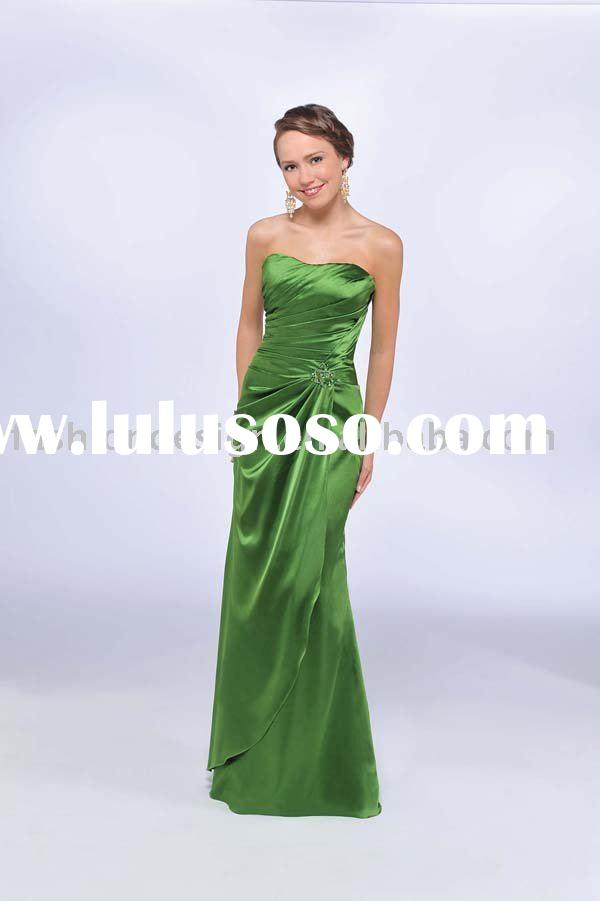 2010 silk green evening dresses,formal prom dresses,party dresses,bridesmaid dresses,evening gowns x