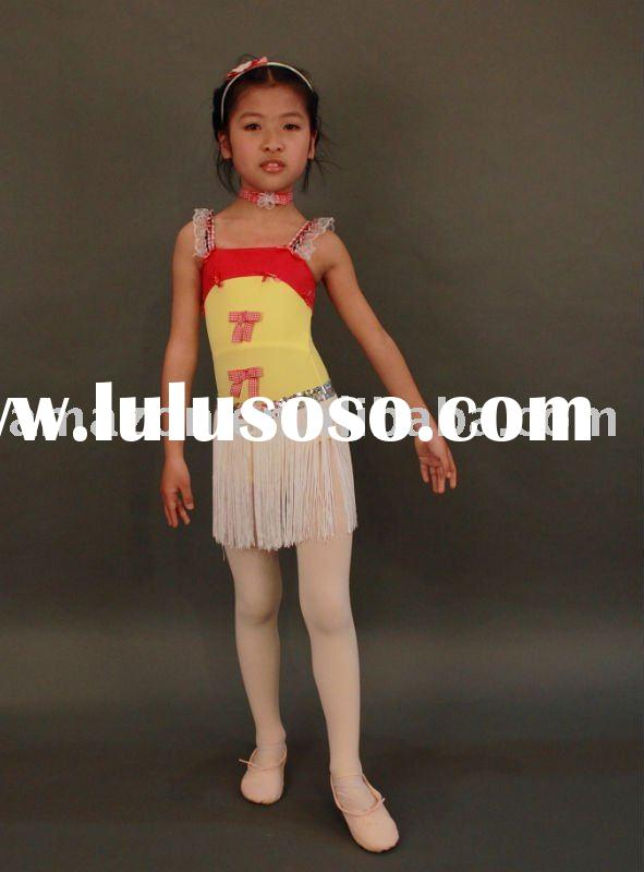 2011 girl Fashion Style Of Latin dance dress with tassels