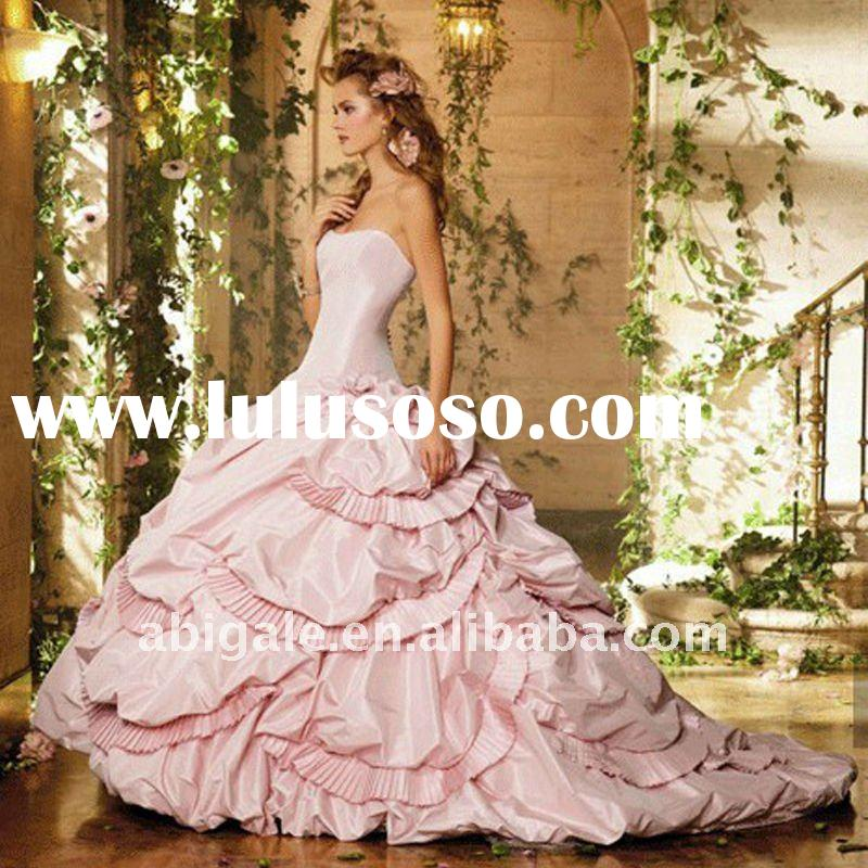 2012 New Design Off shoulder Ball Gown Sweep Satin Wholesale Wedding Dress