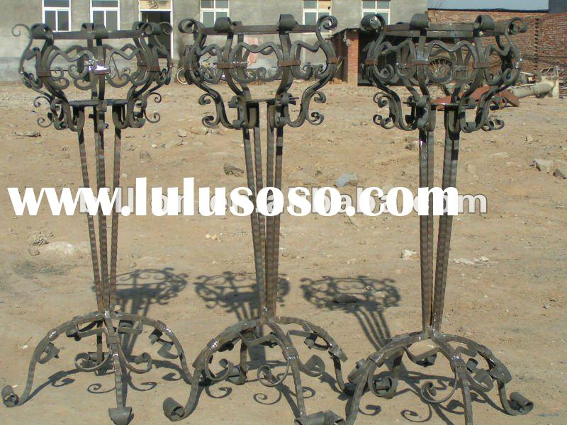 2012 manufacturer Decorative iron flower stand for garden flower iron flower stand