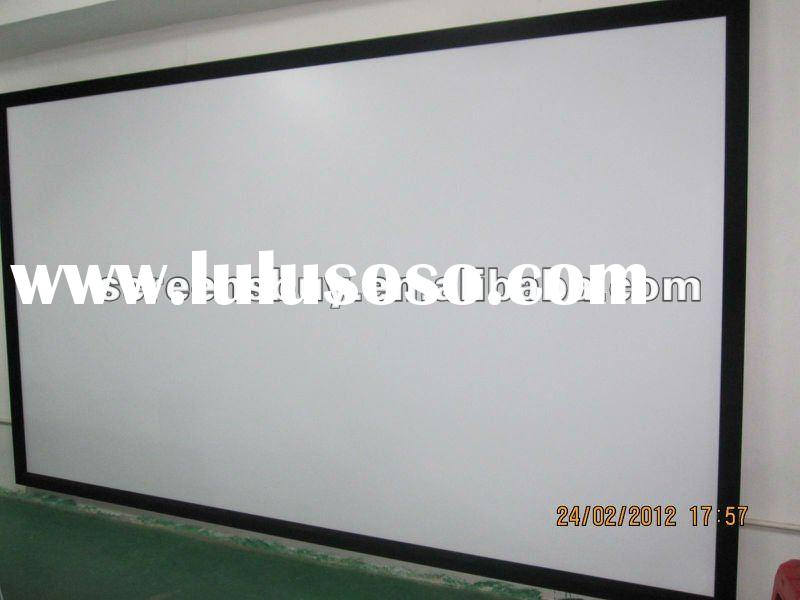 3D Silver Fixed Frame screen/fast fold screen/Electric Projection Screen/ Motorized Projector Screen