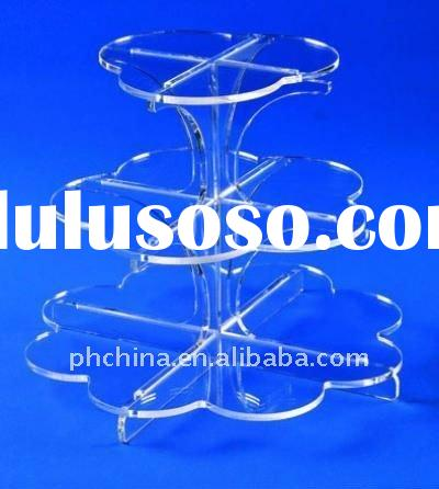 3 Tier Flower or Leaf Like Acrylic Cupcake Cake Stand / Wedding Cake Stand