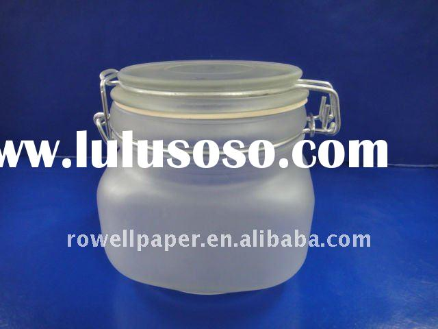 450ml glass food jar with airtight clamp lid