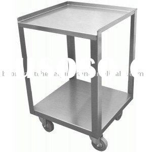 4 Wheels Stainless steel food cart/ Kitchen equipment/hotel amenity