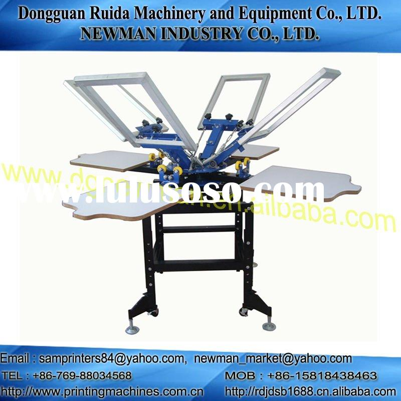 4 station 4 color screen printing press machinery