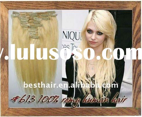 613 clip in 26 inch Indian remy human hair extensions