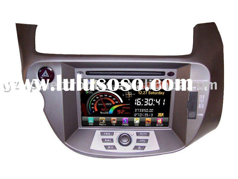 7inch Custom double din in dash car dvd player for Honda NEW FIT,JAZZ,SPORT