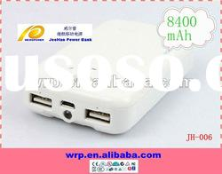 8400mAh portable mobile charger for Iphone HTC Sony ericsson Samsung Nokia Blackberry PSP GPS Tablet