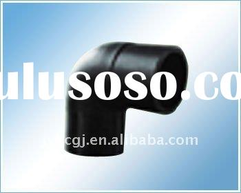 90 degree elbow HDPE pipe fitting for water or gas supply