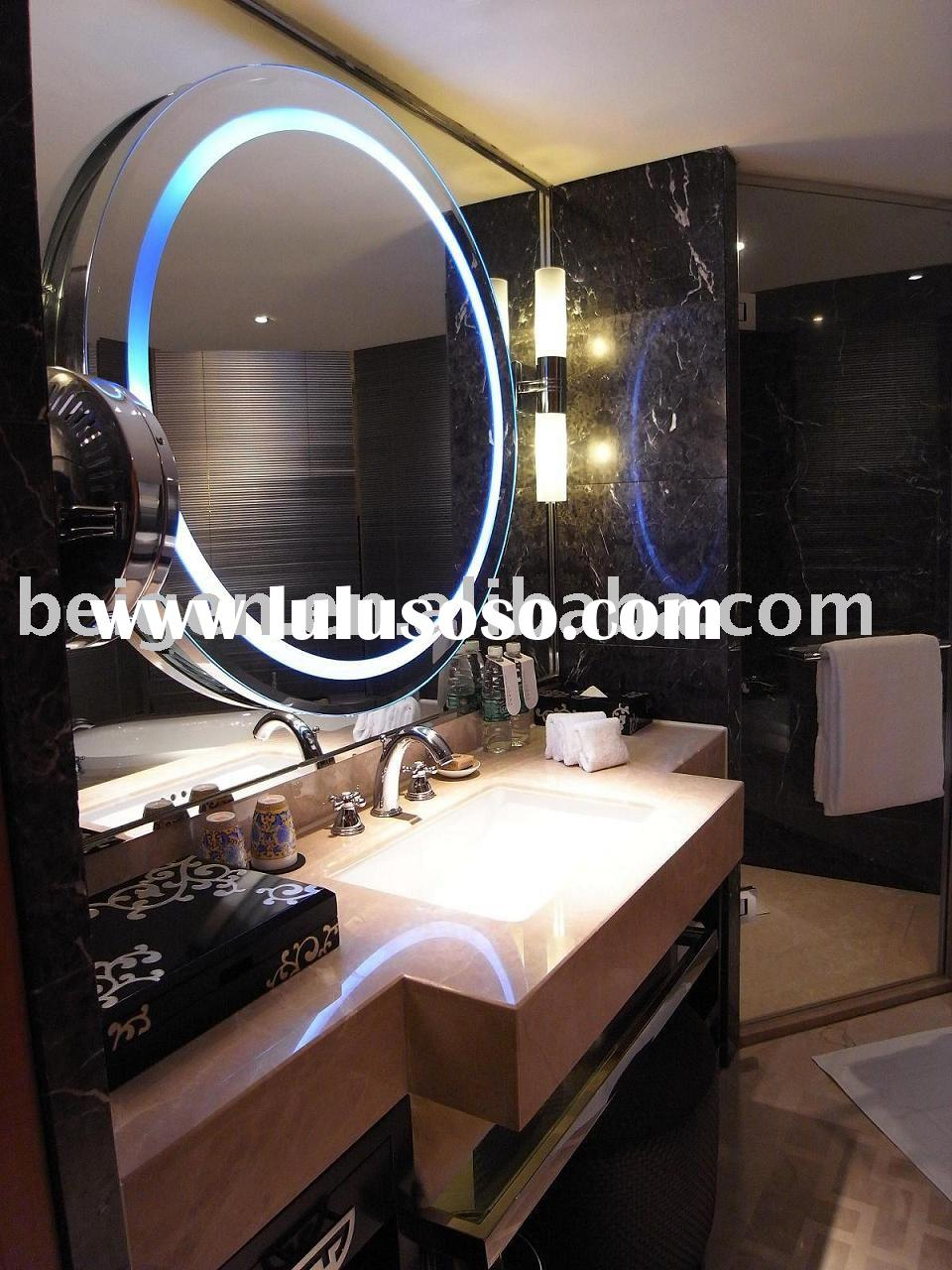 Bathroom illuminated mirror, backlit mirror(CE,UL approved lights and defogger)