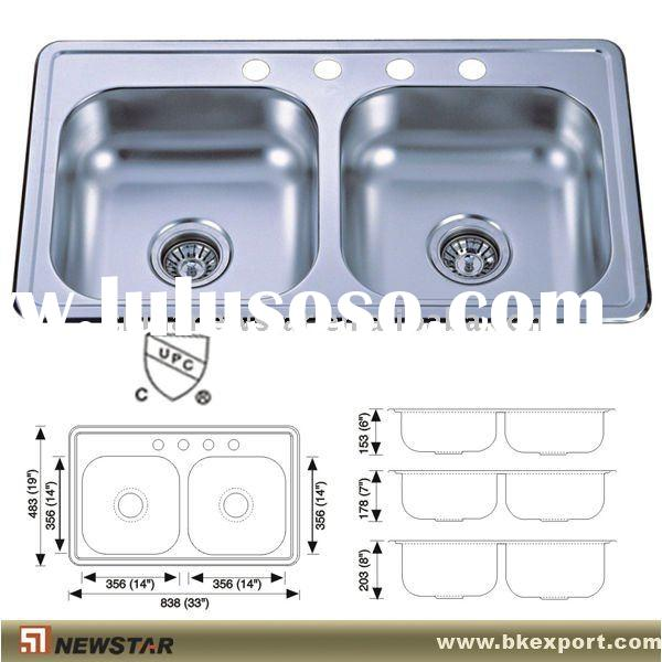 CAD drawing stain steel sink topmount kitchen sink