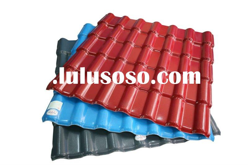 China corrugated PVC roofing sheet (Synthetic resin PVC roof tile, ASA coating)