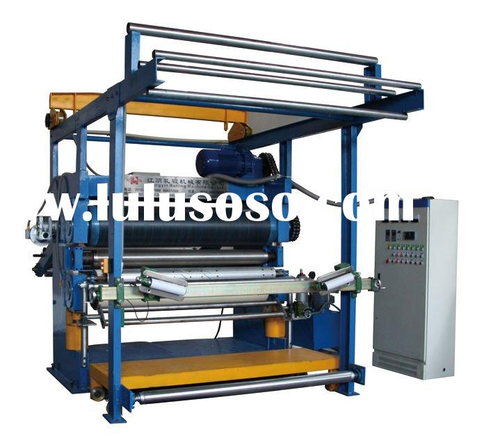 Chinese plane and bump embossing machine for fabric and leather.