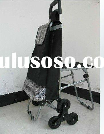 Climbing Stairs Folding Shopping Cart /Shopping bag with chair