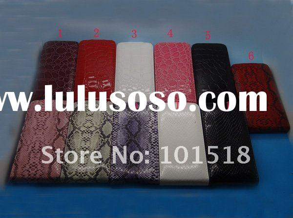 Design ID Business Name Credit Bank Card Holder leather case For Apple iPhone 4 4S 4G Snake Croco st
