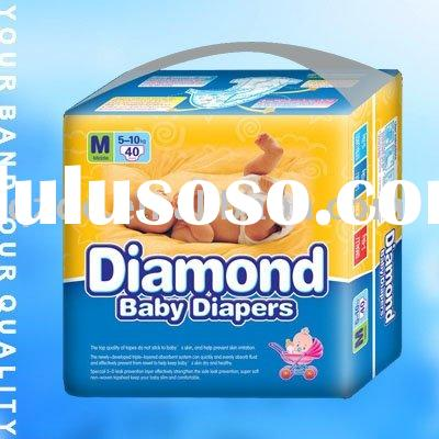 Diamond Soft Disposable Baby Diaper with Good Quality, Cotton, Breathable, 3D Leak Guard(JHC005)