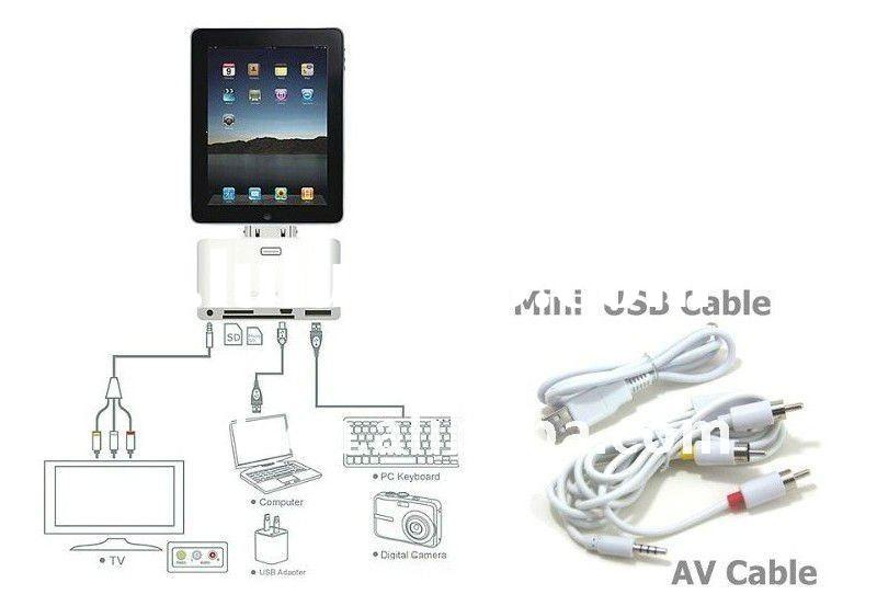 Dock connector to USB cable for iPad 2 ,HDMI cable for apple iPad 2 iPad2,component AV cable for app