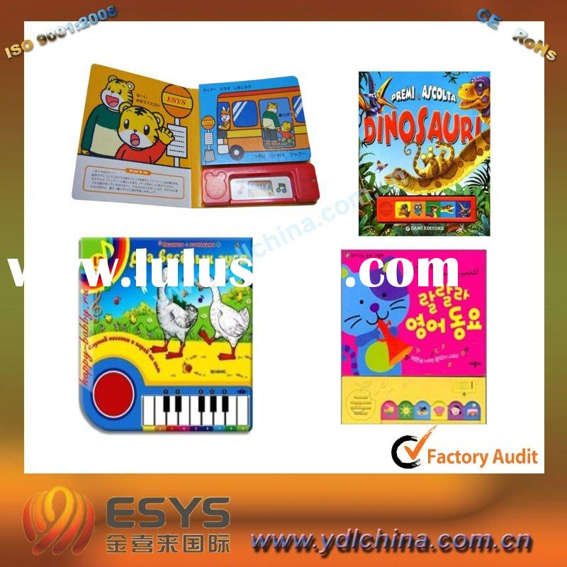 Education magic sound book for kids learning