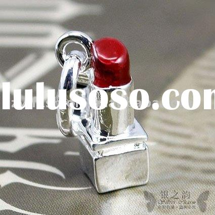 Fashion Lipstick Charms,925 Sterling Silver Jewelry LC089