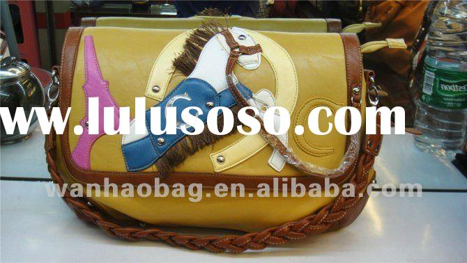 Fashion PU blue color ladies handbags/purse/bags,9044