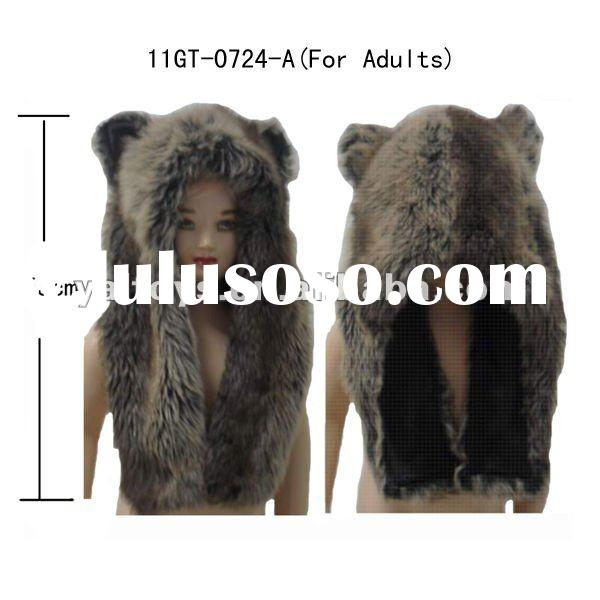 Faux fur animal hat for Adults ! Short style !