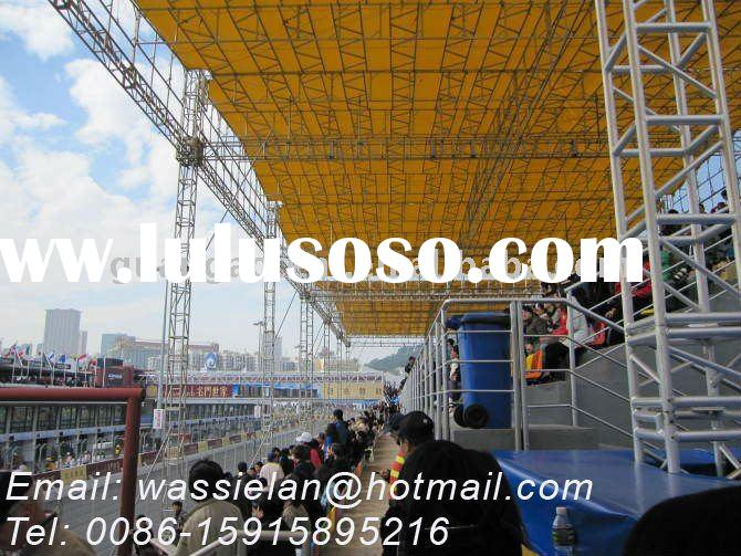 Flat Roof Trusses, Race Bleacher Cover, Bleachers Roof