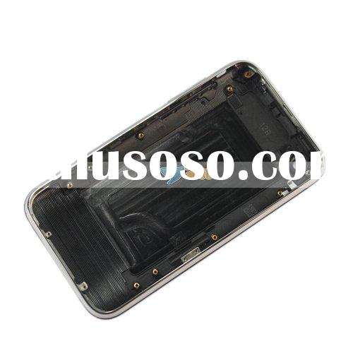 For iPhone 3G Back Cover With Chrome Assembly Half Shell Black