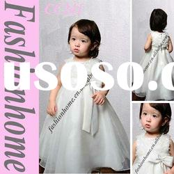 Free shipping Organza A-line lovely Flower girl dress CC241