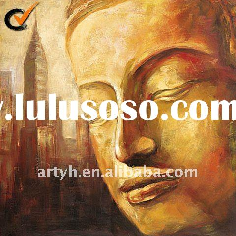 Handmade Modern Decorative Canvas Face Oil Painting