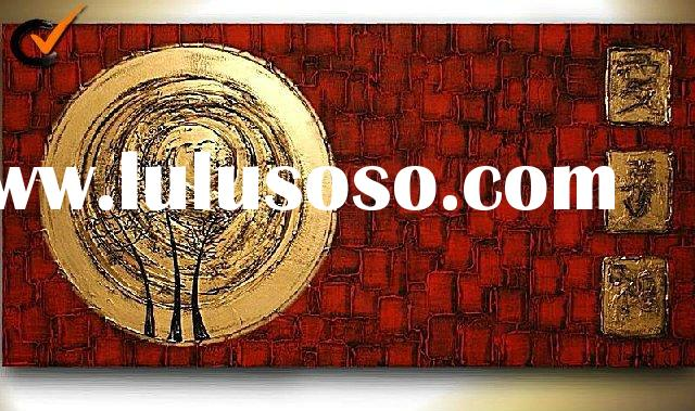 Hot Sell Handmade Decorative Modern Oil Paintings Heavy Texture