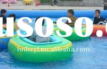 Hot-selling motor bumper boat on water in inflatable swimming pool