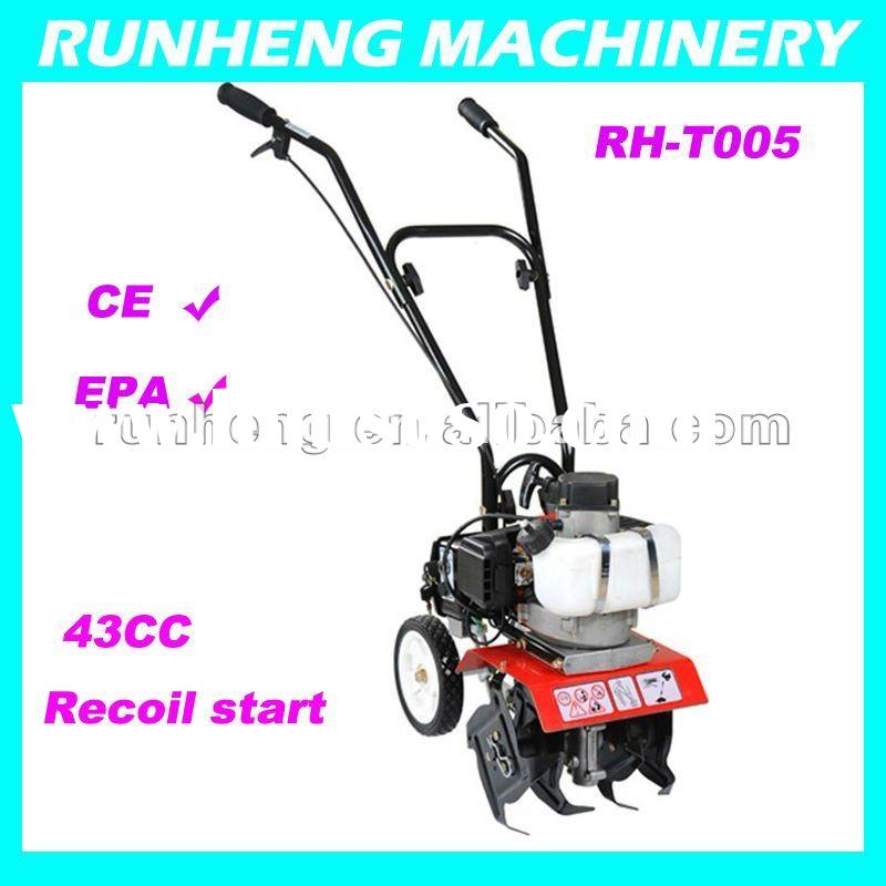 Hottest 1.2HP Gasoline mini tiller with CE approval,High quality power Tiller (RH-T005)