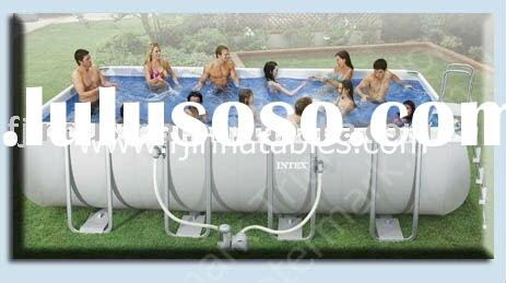 Inflatable pool, Intex pool, swimming pool, water pool, aqua park pool, metal pool.