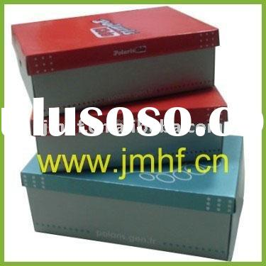 Lid and tray shoe packaging color paper box