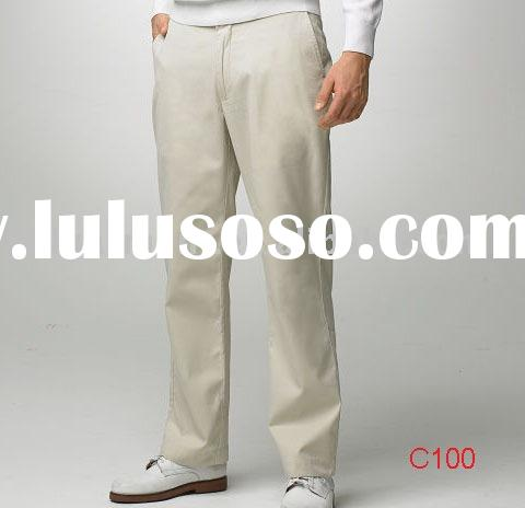 Men's cotton blend business casual pants C100