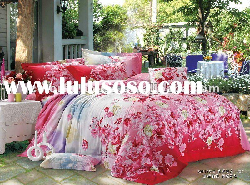NEW DESIGN reactive printing bed cover/bed sheet/quilt over fabrics