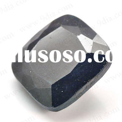 Natural Black Sapphire Gemstone for 925 sterling silver jewelry