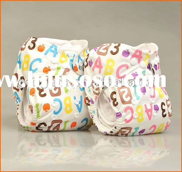 Newest Print Patterns ABC123 Baby Cloth Diapers Nappy